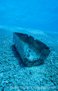 Debris from wreck of F/V Jin Shiang Fa, lagoon talus slope.,  Copyright Phillip Colla, image #00789, all rights reserved worldwide.