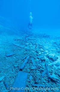 Debris from wreck of F/V Jin Shiang Fa, Rose Atoll National Wildlife Sanctuary