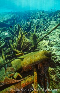 Debris, wreck of F/V Jin Shiang Fa. Rose Atoll National Wildlife Sanctuary, American Samoa, USA, natural history stock photograph, photo id 00827