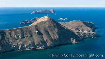 South Coronado Island, Mexico, eastern side, Middle and North Islands in the distance, aerial photograph. Coronado Islands (Islas Coronado), Coronado Islands, Baja California, Mexico, natural history stock photograph, photo id 29065