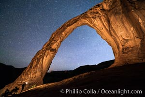 Stars over Corona Arch at Night, Moab, Utah