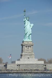 The Statue of Liberty, New York Harbor. Statue of Liberty National Monument, New York City, New York, USA, natural history stock photograph, photo id 11086