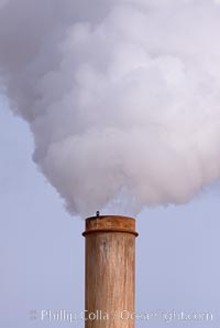 Steam is released from a geothermal power generation plant near the Salton Sea in Imperial County.  Geothermal power generation uses steam heated deep within the Earth's crust to power turbines and generate electricity.  Imperial County has more than 11 known geothermal fields in the Brawley and Salton Sea areas and holds great potential for the generation of electicity by tapping into this geothermal energy source