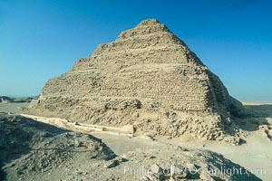 Step pyramid of Djoser (Zoser). Saqqara, Egypt, natural history stock photograph, photo id 02575