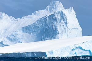 Iceberg detail, at sea among the South Orkney Islands. Coronation Island, South Orkney Islands, Southern Ocean, natural history stock photograph, photo id 24795