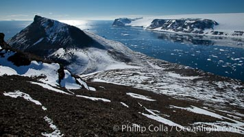 Summit of Devil Island, with Vega Island in the distance. Devil Island, Antarctic Peninsula, Antarctica, natural history stock photograph, photo id 24786