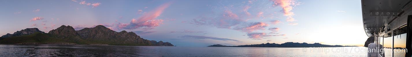 Sunrise near San Evaristo, Sea of Cortez