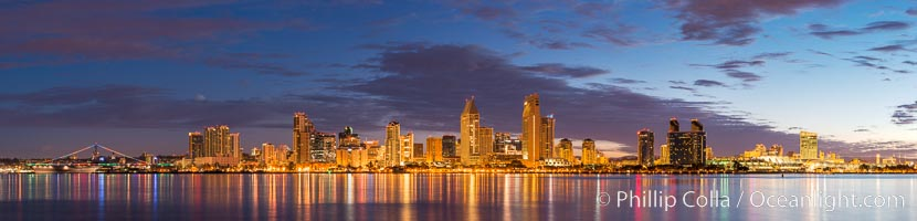 Sunrise over the San Diego City Skyline