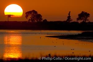 Sunset, Batiquitos Lagoon, Carlsbad, California