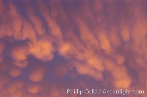Cloud formations at sunset