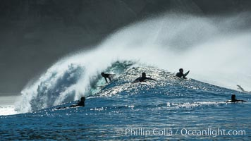 Surf and spray during Santa Ana offshore winds. San Diego, California, USA, natural history stock photograph, photo id 30461