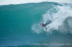 Boomer Beach, bodysurfing. La Jolla, California, USA, natural history stock photograph, photo id 18281