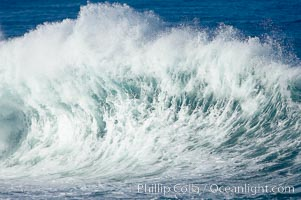 Wave and backwash spray, La Jolla, California