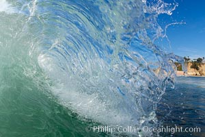 Afternoon tiny wave. Tabletop, Cardiff by the Sea, California, USA, natural history stock photograph, photo id 18972