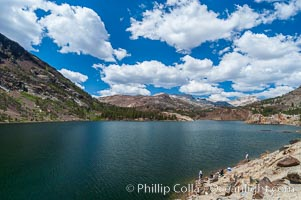 Ellery Lake, west of Tioga Pass, elevation 9538.  Sierra range, Yosemite National Park, California