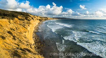 Torrey Pines cliffs. Torrey Pines State Reserve, San Diego, California, USA, natural history stock photograph, photo id 29133