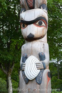 Totem pole, Butchart Gardens, Victoria, British Columbia, Canada