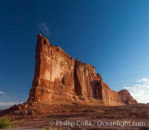 Tower of Babel in morning light, Arches National Park, Utah