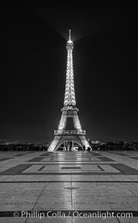 Eiffel Tower rises over the Trocadero place. The Trocadero, site of the Palais de Chaillot, is an area of Paris, France, in the 16th arrondissement, across the Seine from the Eiffel Tower. Trocadero, Paris, France, natural history stock photograph, photo id 28168