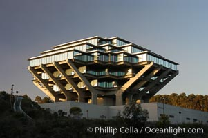 UCSD Library (Geisel Library, UCSD Central Library). University of California, San Diego, La Jolla, California, USA, natural history stock photograph, photo id 06462