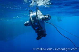 Underwater ROV Preparing to Dive at Clipperton Island. Clipperton Island, France, natural history stock photograph, photo id 32964