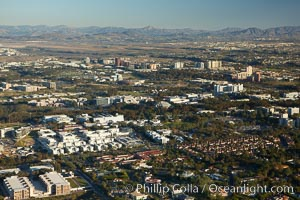 University of California San Diego, with University City in the  distance, La Jolla
