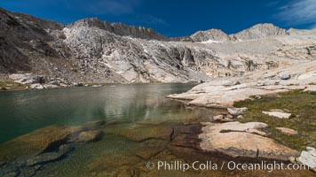 Mount Conness (12589') and Upper Conness Lake, Twenty Lakes Basin, Hoover Wilderness, Conness Lakes Basin