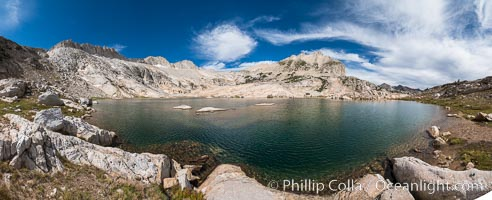 Upper Conness Lake, Panorama, Hoover Wilderness, Conness Lakes Basin