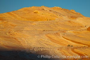 Striated sandstone formations, layers showing eons of geologic history, Valley of Fire State Park