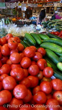 Vegetable variety at the Public Market, Granville Island, Vancouver