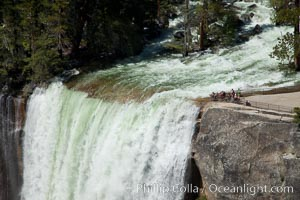 Vernal Falls and Merced River in spring, heavy flow due to snow melt in the high country above Yosemite Valley. Yosemite National Park, California, USA, natural history stock photograph, photo id 26877
