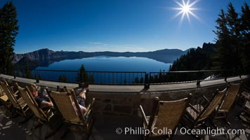 View from Crater Lake Lodge, Crater Lake National Park. Crater Lake National Park, Oregon, USA, natural history stock photograph, photo id 28673