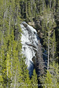 Virginia Cascades is a 60 foot waterfall between Madison and Canyon in Yellowstone National Park
