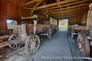 Wagon, near I.O.O.F. Hall, Bodie State Historical Park, California
