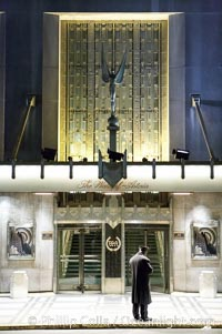 Lonely doorman at the Hotel Waldorf Astoria, Manhattan, New York City