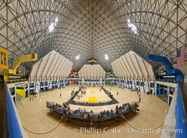 Walter Pyramid, Cal State Long Beach. The home of Long Beach State basketball and volleyball for over 15 years, the Walter Pyramid has become a nationally recognized icon for the university and the city of Long Beach. Designed by Long Beach architect Don Gibbs and built by the Nielson Construction Company of San Diego, The Walter Pyramid cost approximately $22 million