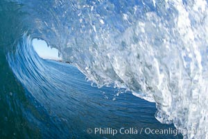Wave breaking in early morning sunlight. Ponto, Carlsbad, California, USA, natural history stock photograph, photo id 21785