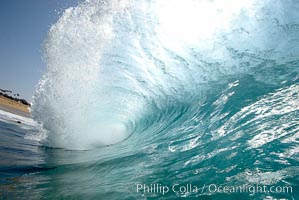 A wave, breaking with powerful energy, at the Wedge in Newport Beach. The Wedge, Newport Beach, California, USA, natural history stock photograph, photo id 16988