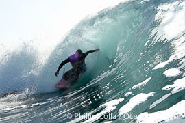 Bodyboarder drops knee, the Wedge.,  Copyright Phillip Colla, image #16995, all rights reserved worldwide.