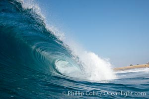 Tube, Cylinders, the Wedge. The Wedge, Newport Beach, California, USA, natural history stock photograph, photo id 16996