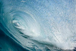 A tube, the inside of a breaking wave, The Wedge, Newport Beach, California