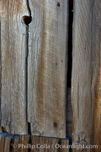 Weathered wood and nails, Kelley Building on Green Street, Bodie State Historical Park, California