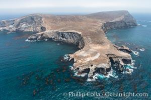 Webster Point, Santa Barbara Island, aerial photograph