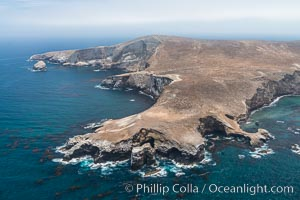 Webster Point, Santa Barbara Island, aerial photograph. Santa Barbara Island, California, USA, natural history stock photograph, photo id 29365