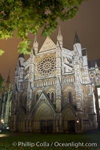 Westminster Abbey at Night, London, United Kingdom