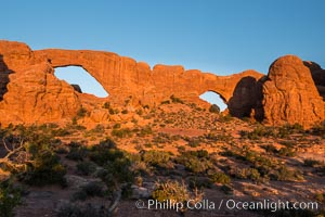 Windows at Sunrise, Arches National Park