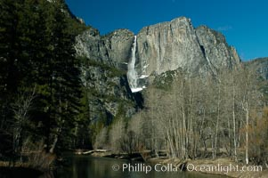 Yosemite Falls, winter, Yosemite Valley, Yosemite National Park, California