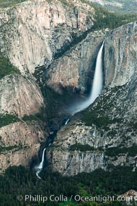 Yosemite Falls viewed from Glacier Point, spring, Yosemite National Park, California