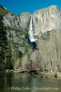 Yosemite Falls, winter, Yosemite Valley, Yosemite National Park, California