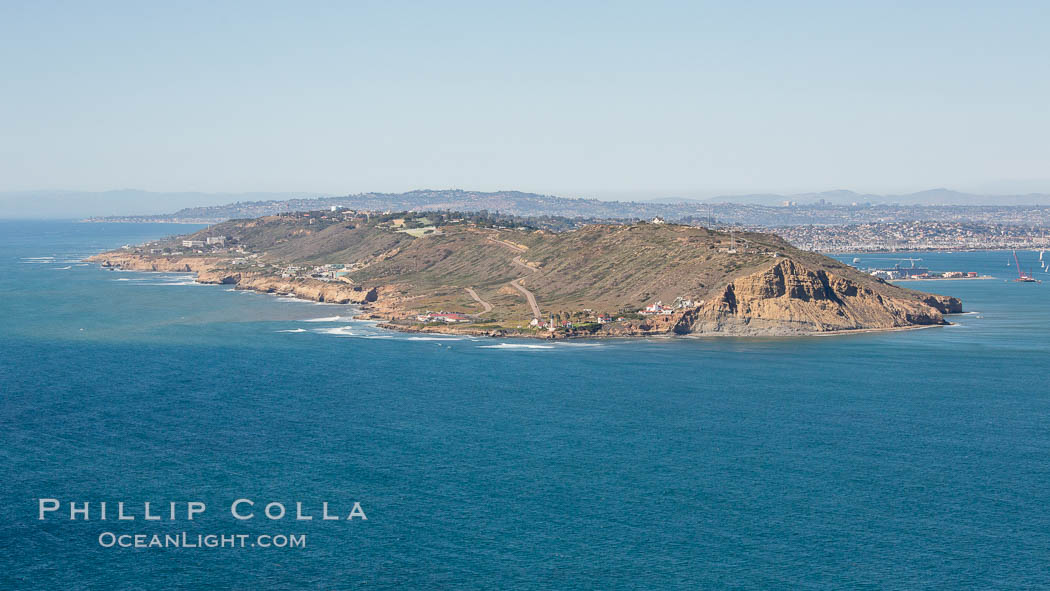 Aerial Photo of Cabrillo State Marine Reserve, Point Loma, San Diego. San Diego, California, USA, natural history stock photograph, photo id 30640